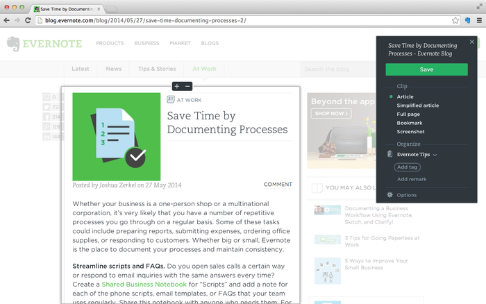 Evernote Web Clipper Google Chrome Extensions